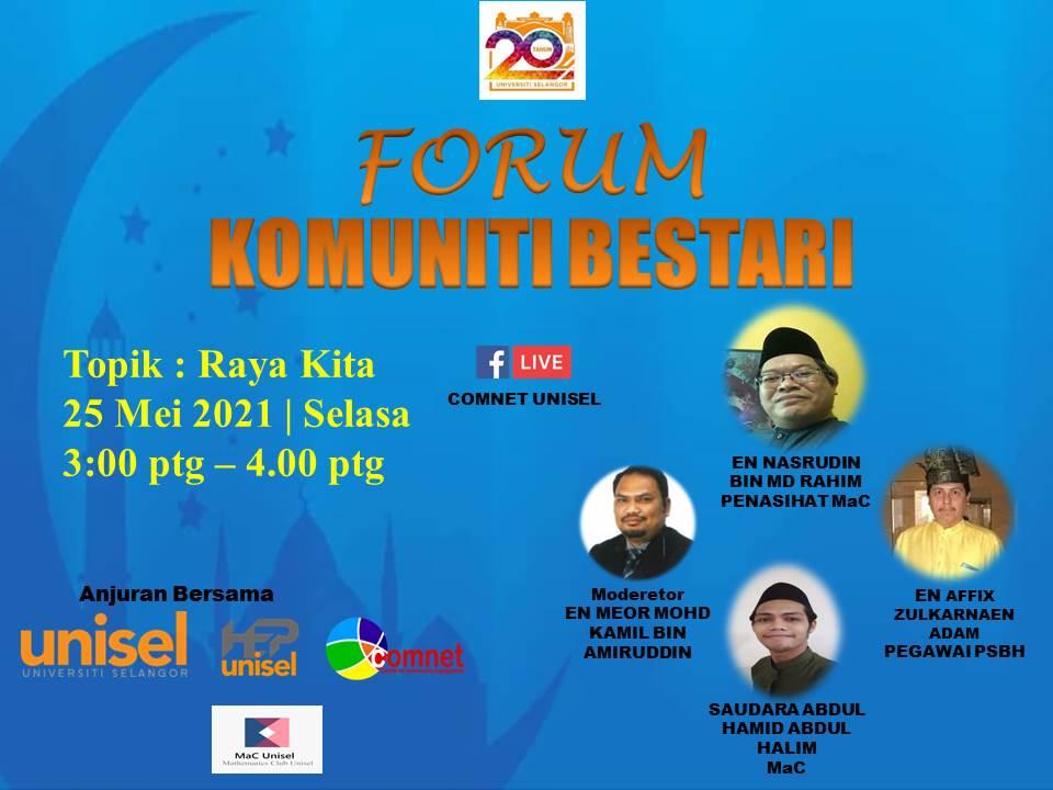 Forum Komuniti Bestari | Raya Kita
