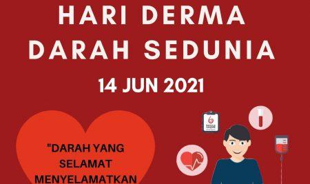 Selamat Hari Penderma Darah Sedunia 2021